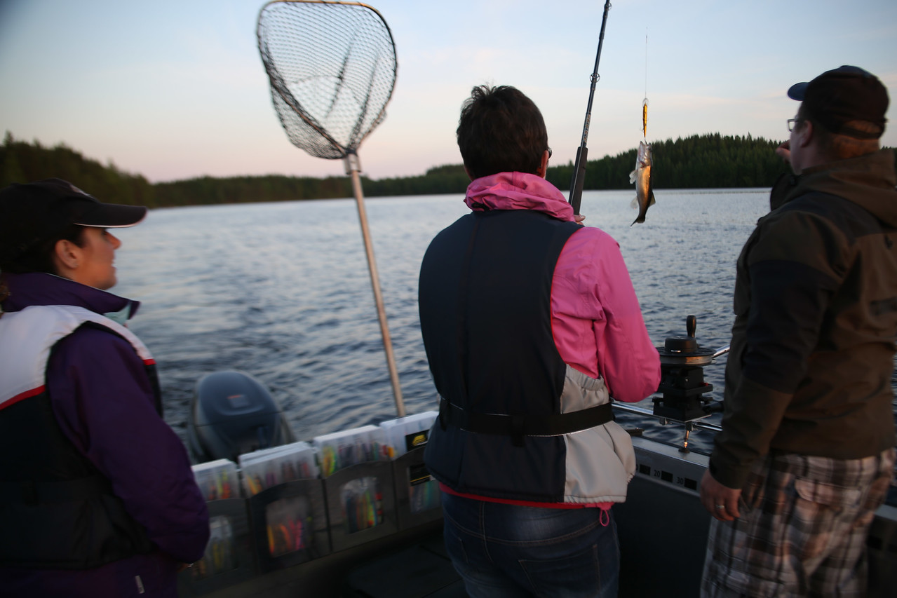 Midnight sun fishing