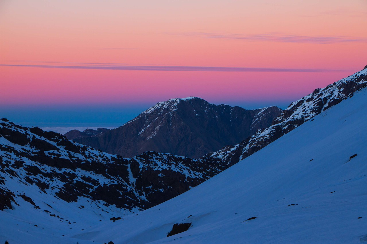 jebel toubkal sunset