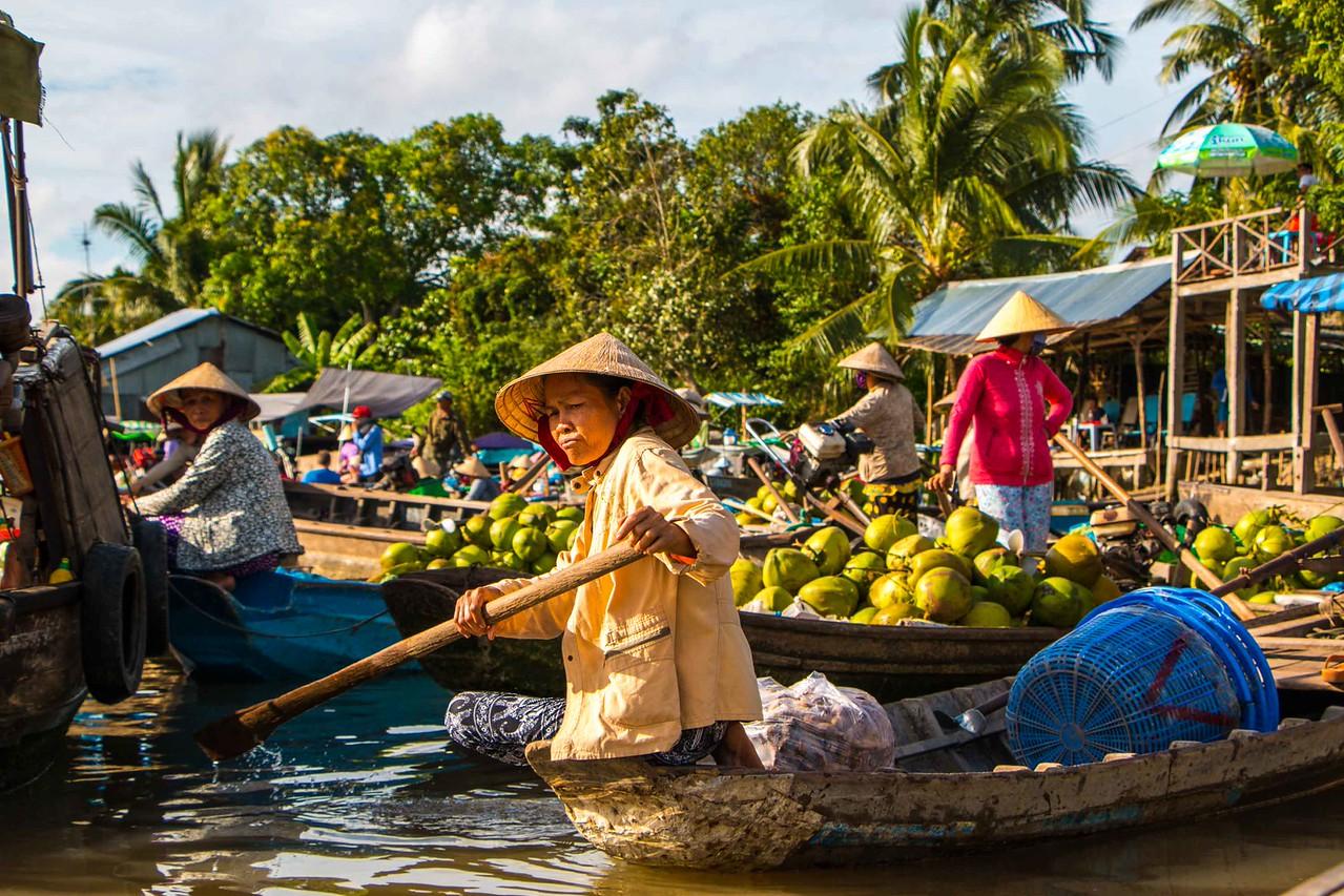cai rang market mekong delta