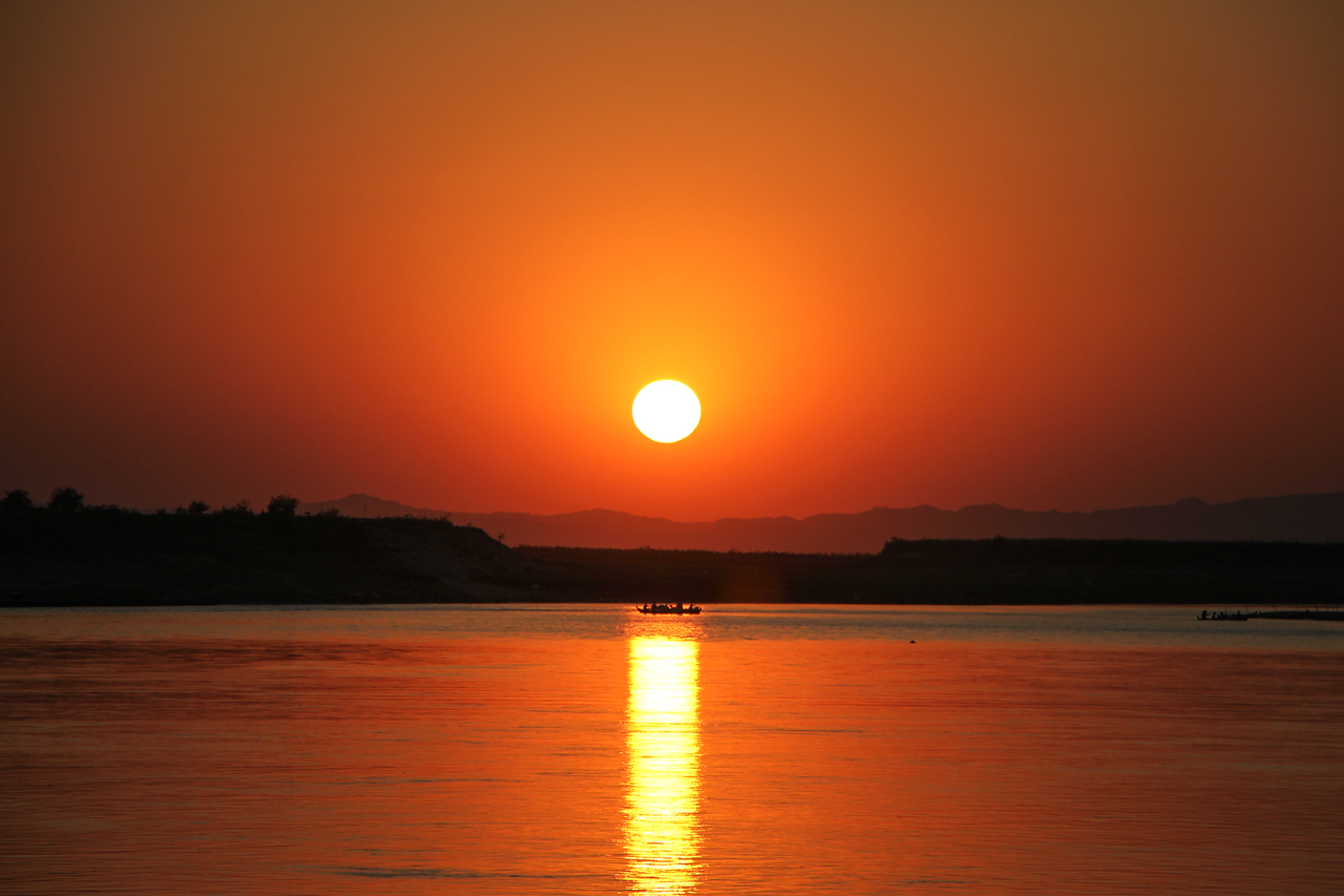 mandalay to bagan sunset