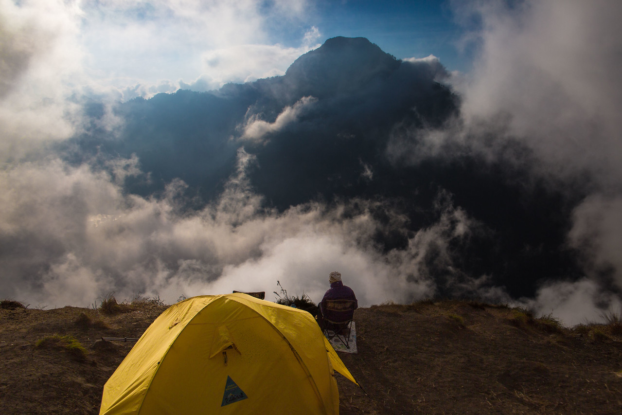 Mount Rinjani trek Camp Night 1