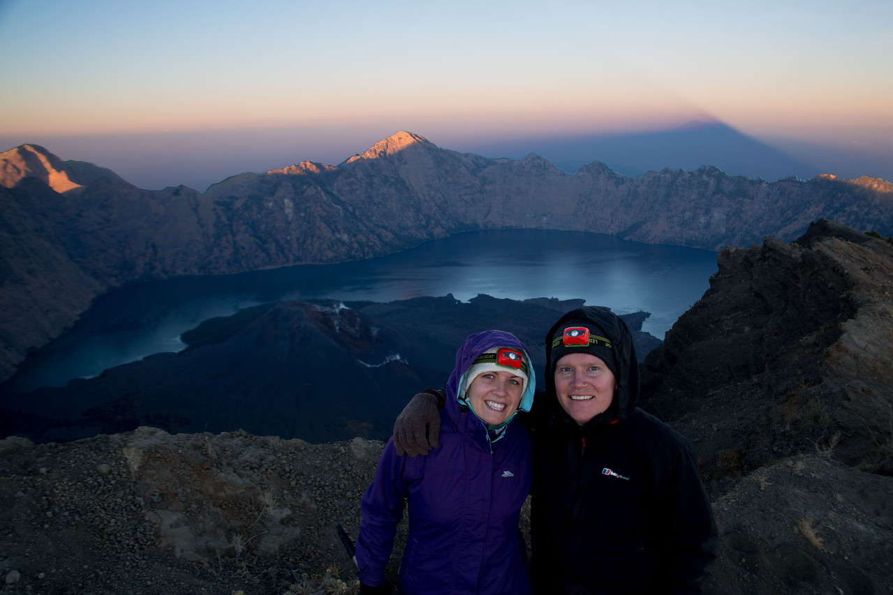 Mount Rinjani trek shadow