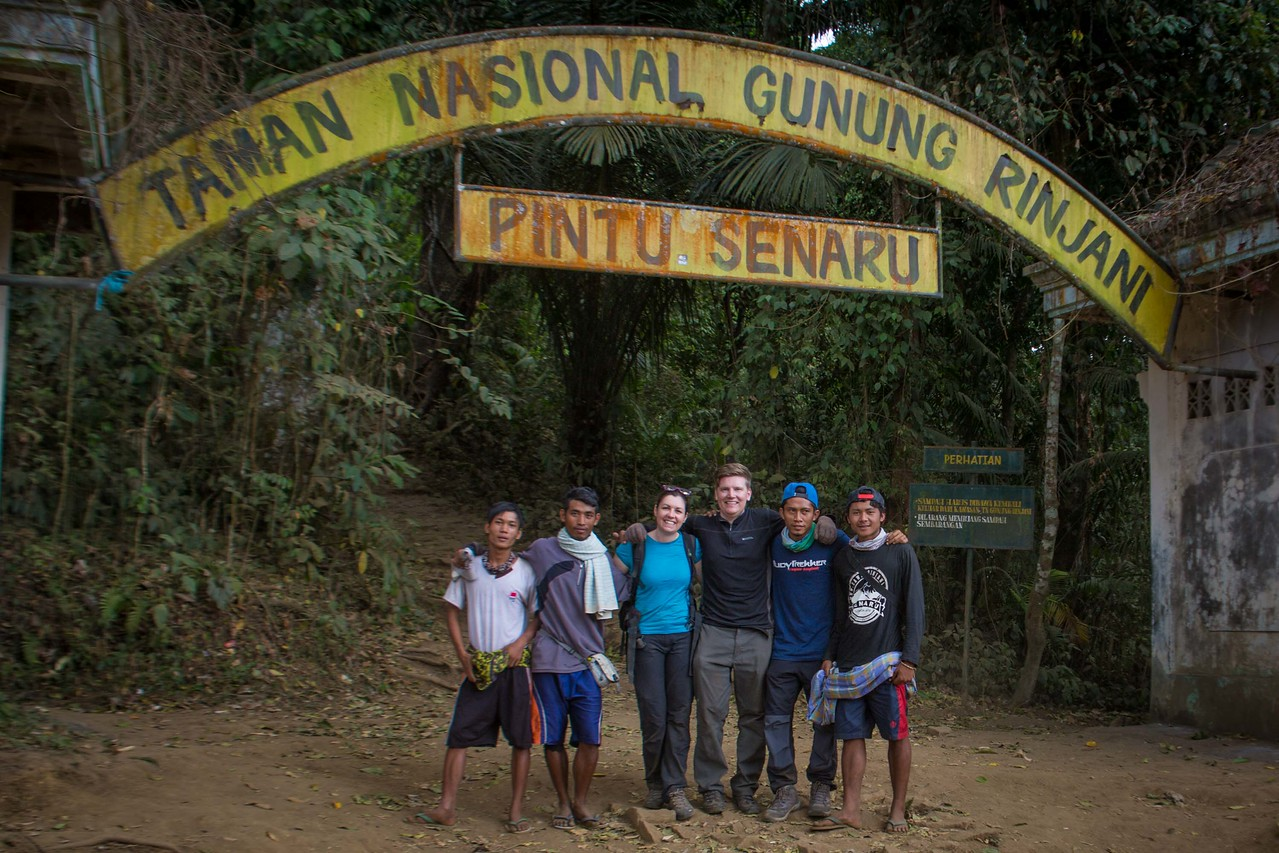 Mount Rinjani trek national park entrance